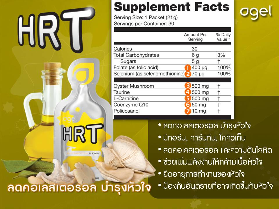 HRT-reduce cholesteral